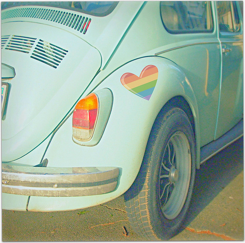 beetle, blue, car, favim, green, heart, hippie, peace, vintage, we heart it