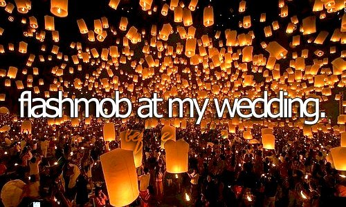 before i die, dark, flashmob, lights, wedding