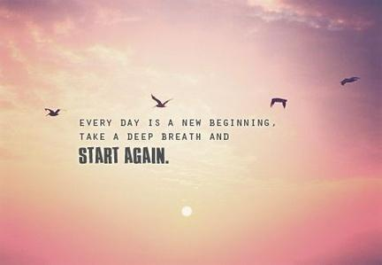 beginning, new, pink, quotes