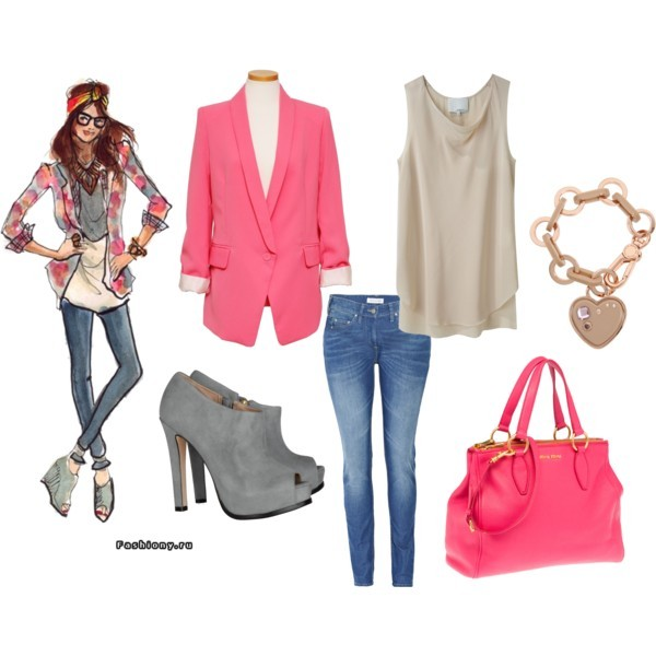 beige, boots, bracelet, charm, denim, fashion, heels, inslee, marc jacobs, miu miu, pink, polyvore, shoes, sketch, sketches, skinny jeans, spring, style, summer, top, tops