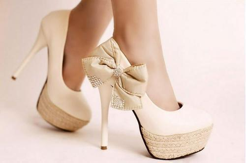 beige, cute, fashion, girl, photography, ribbon, shoes, style, white