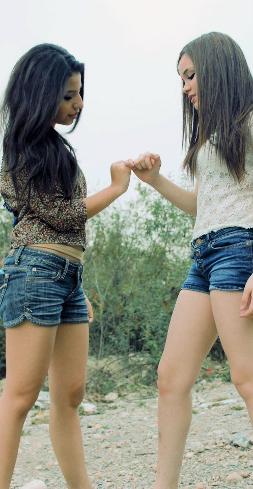 best friends, girls , hair, pinky promise, promise