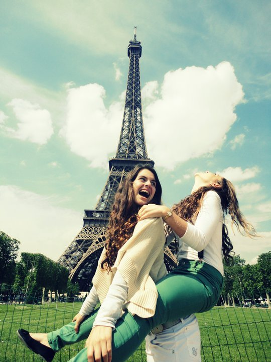 bffs, crazy, friends, girl, grass, hair, happy, paris