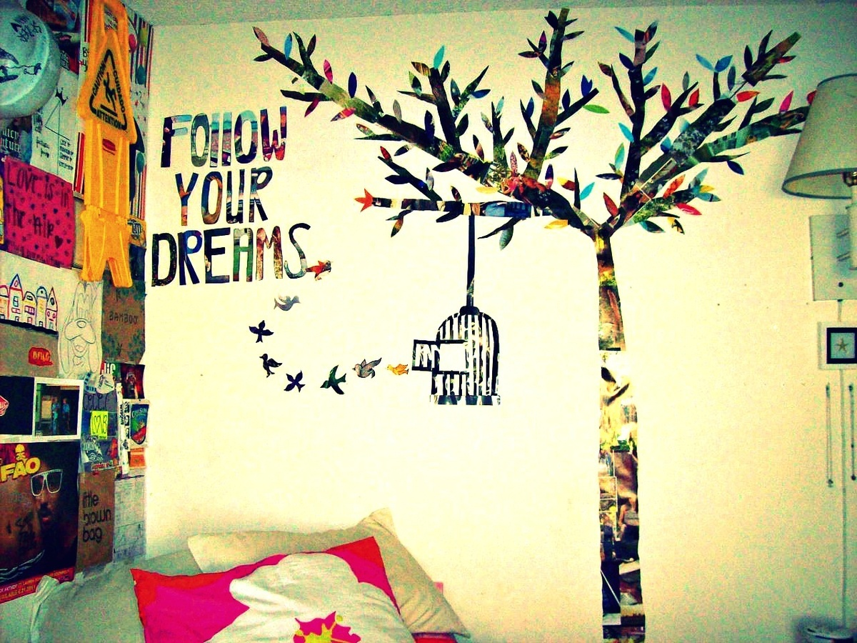 birds, black, dreams, follow your dreams, interior