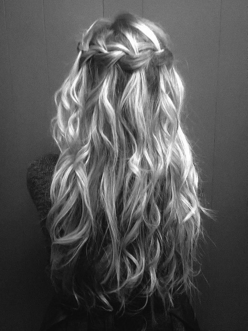 black and white, blonde, cool, girl, hair