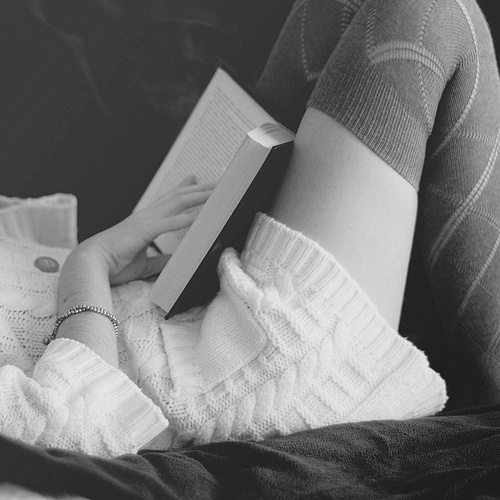 black and white, books, cute, fashion, girl, photograph