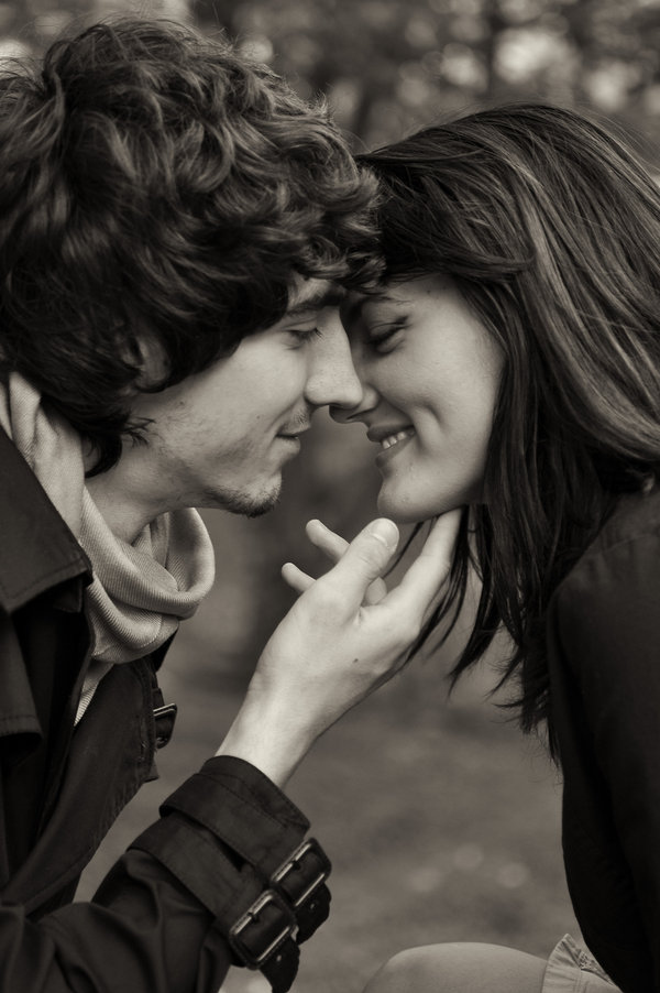 black and white, boy, couple, cute, dimple