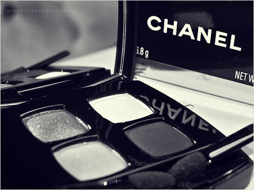 black and white, chanel, fard, fashion