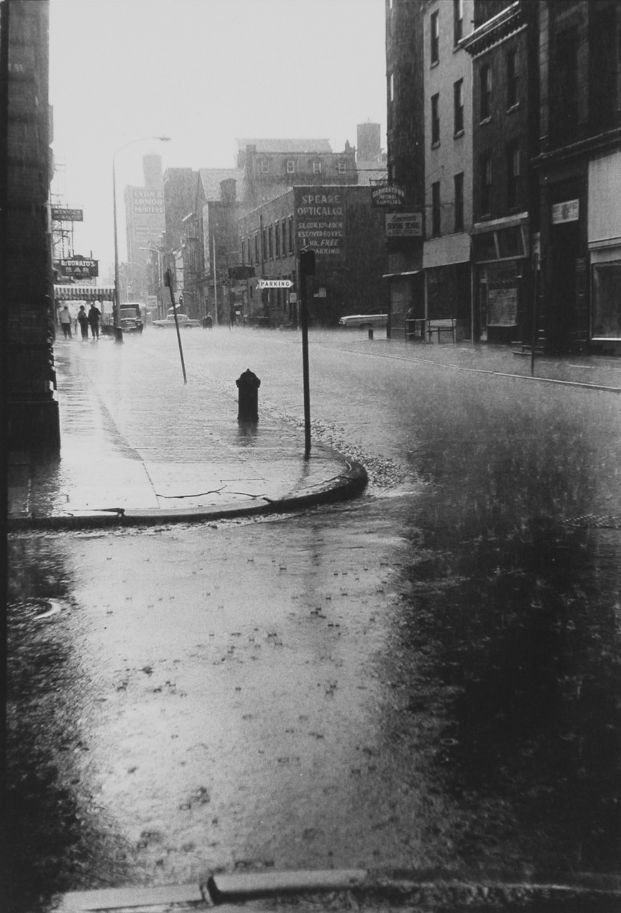 black and white, city, dark, photography, rain
