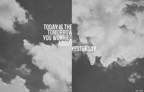black and white, clouds, text, tomorrow, typography