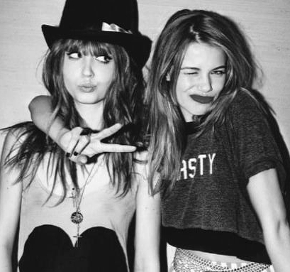 black and white, cool, cute, girls , wildfox
