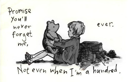 black and white, drawing, pooh, text