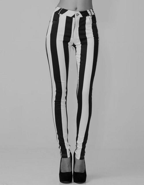 black and white, fashion, girl, legs, stripes