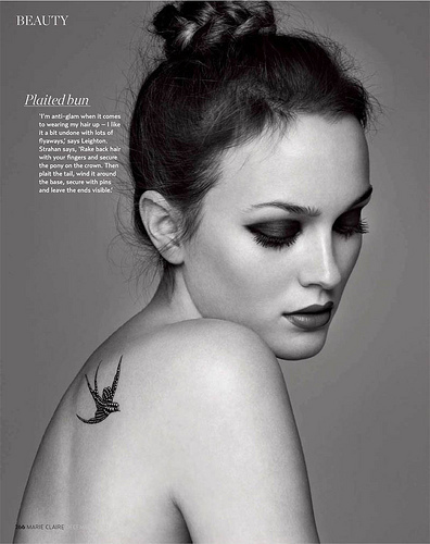 black and white, fashion, girl, leighton meester, model