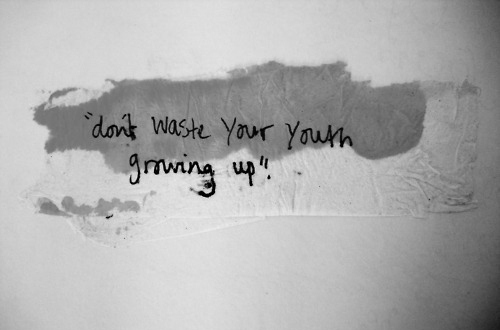 black and white, grow, text, waste, words