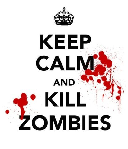 black, blood, keep calm, kill, red, zombies