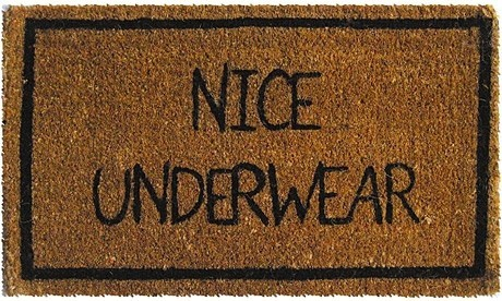 black, brown, funny, mat, nice, underwear