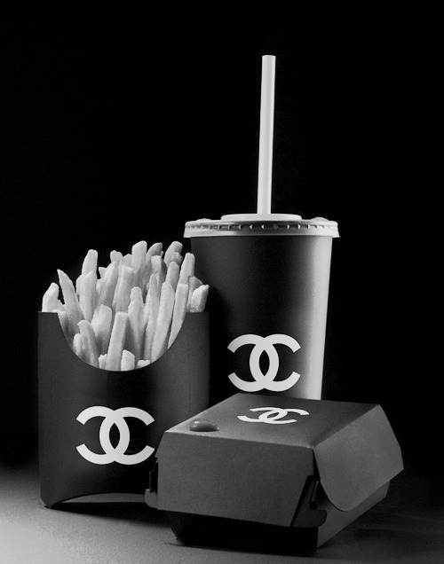 black, chanel, chips, coco chanel, fashion