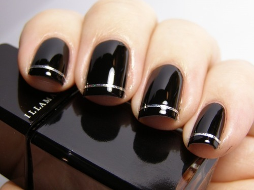 black, cute, nail, nail art, nail polish