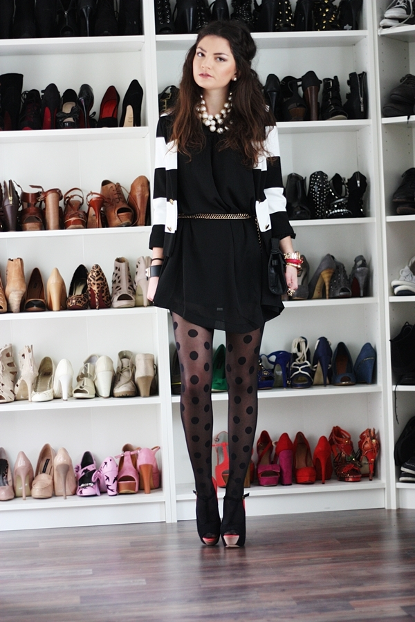 black, dress, fashion, girl, hair, heels, leg, shoes