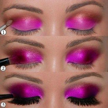 black, eyes, fashion, lashes, make up, makup, pink, purple, tutorial