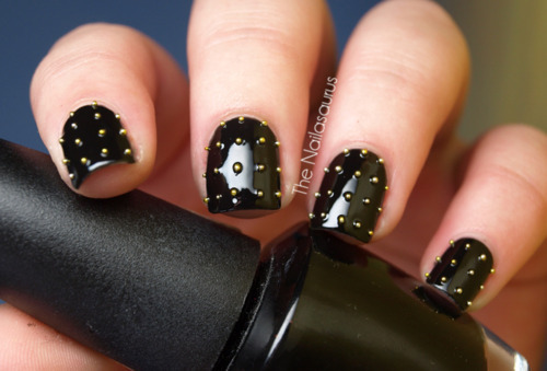 black, fashion, girl, ivaa stojcic, nail