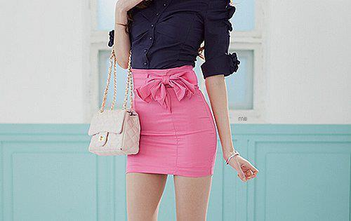 black, fashion, girl, photography, pink, skirt