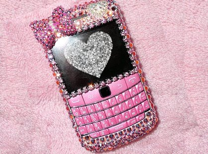 blackberry, dazzle, glitter, phone, pink