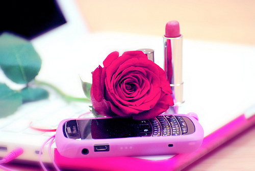 blackberry, girl, ipad, ipod, lipstick