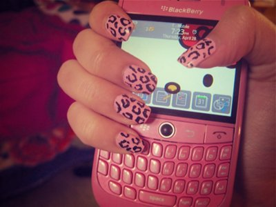 blackberry, leopard, messaging, mobile, nailart