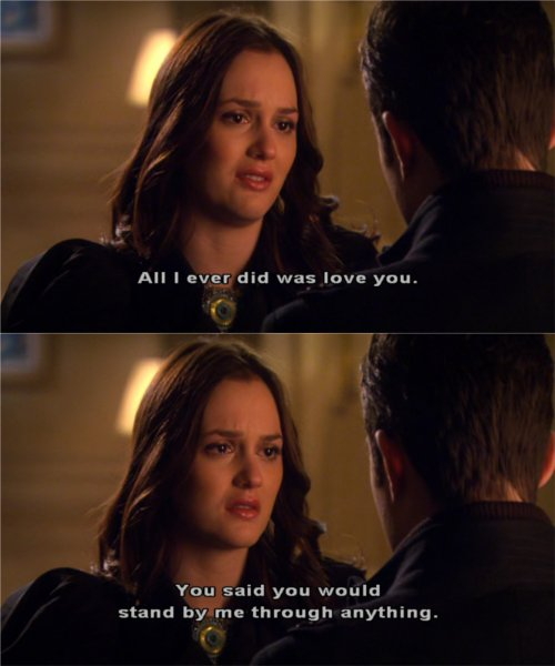 Question Chuck and blair gossip girl quote advise you