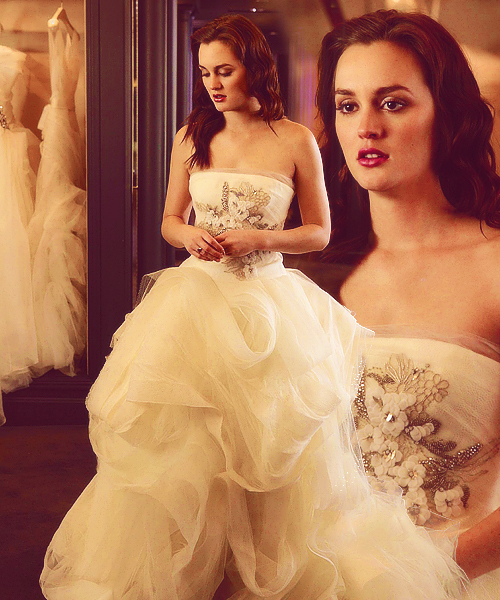 Blair waldorf girl gossip leighton meester love for Wedding dress blair waldorf