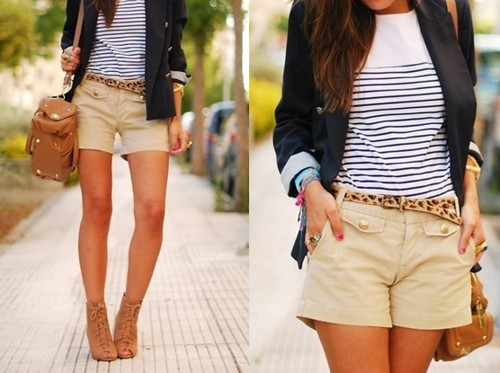 blazer, blue and white stripes, casual, fashion, girl
