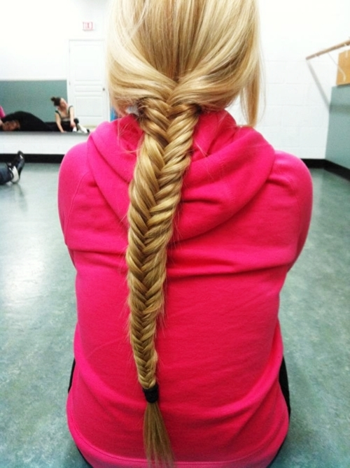blond, blonde, braid, fishbone, fishtail