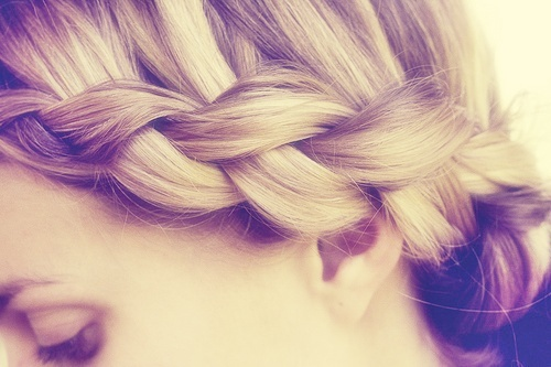 blond, braid, girl, hair