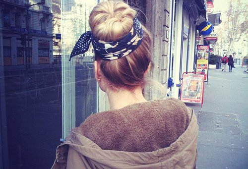 blond, bun, cute, fashion, girl