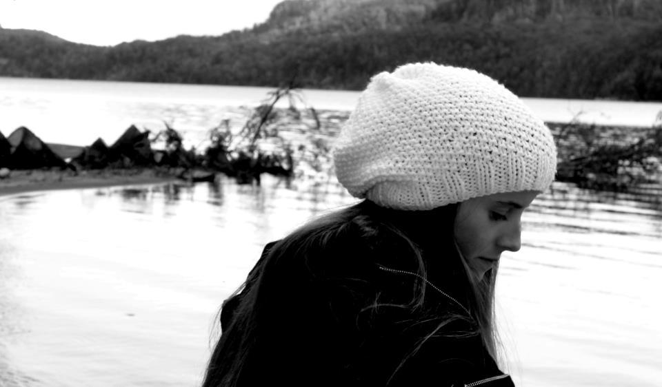 blond, cute, girl, lake, winter
