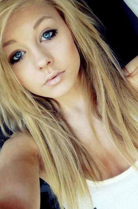 blonde, blue, eyes, girl, hair