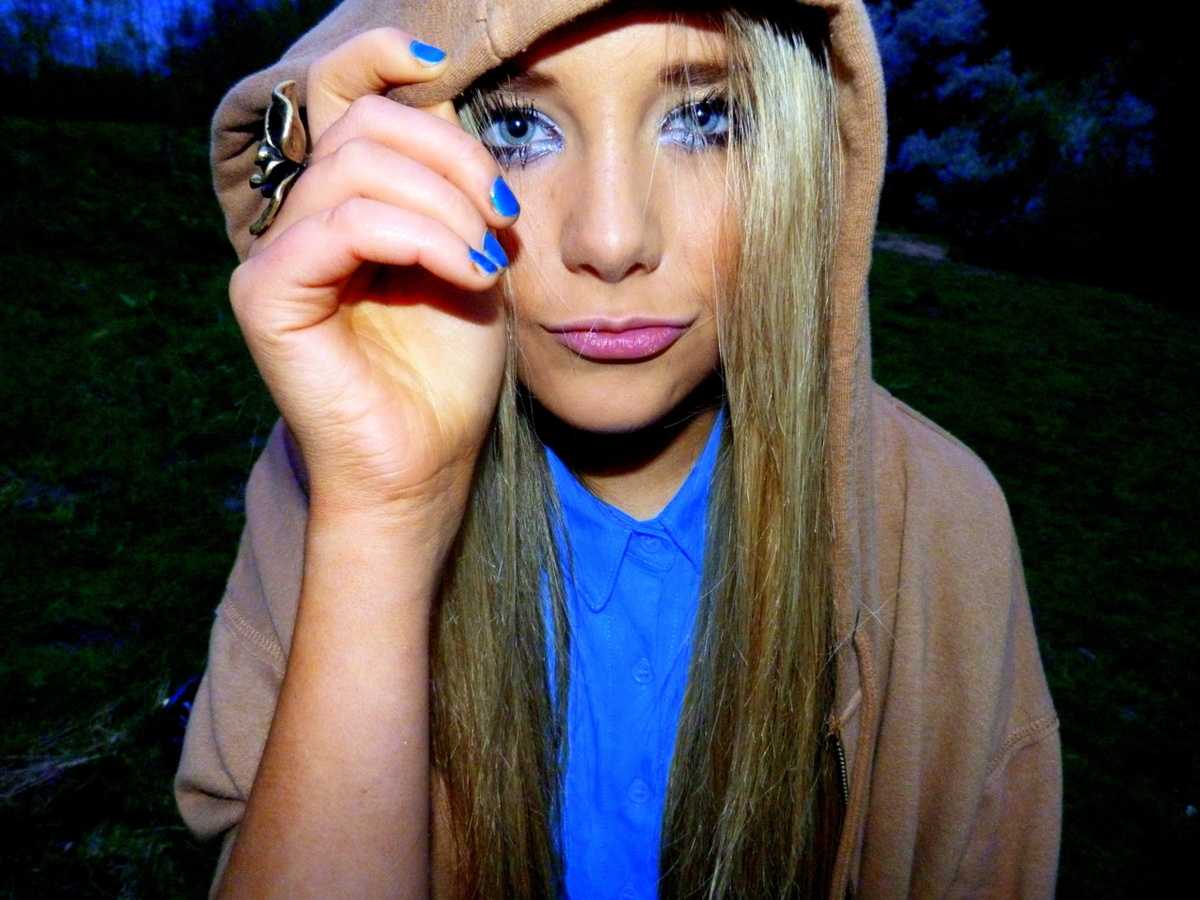 blonde, blue eyes, girl, hair, jacket