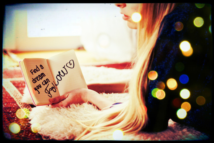 blonde, bokeh, book, diary, dream