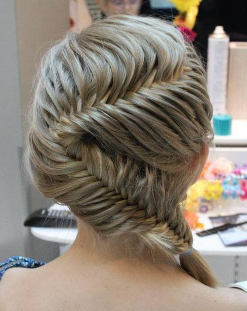 blonde, braid, cute, fishbone, fishtail