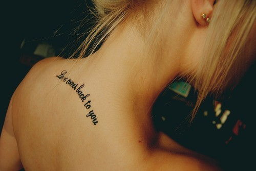 blonde, girl, ink, tattoo