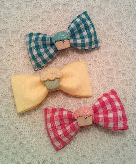 blue, bow, gingham, hair, hot pink, kitsch, pink, yellow