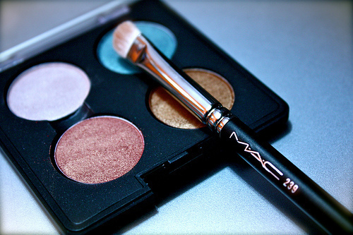 blue, brown, brush, girls, gold, mac, make up, megera sutil