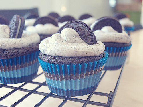 blue, chocolate, cupcake, oreo