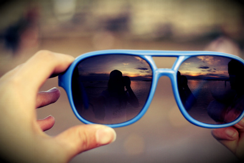 blue, city, designs, glasses, hand
