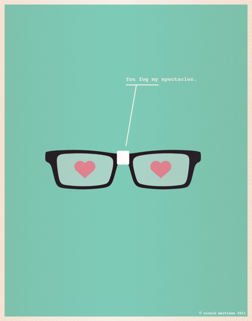 blue, cute, fog, funny, glasses, hipster, hipster glasses, love, spectacles