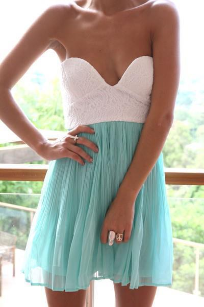 blue, dress, fashion, girl, white