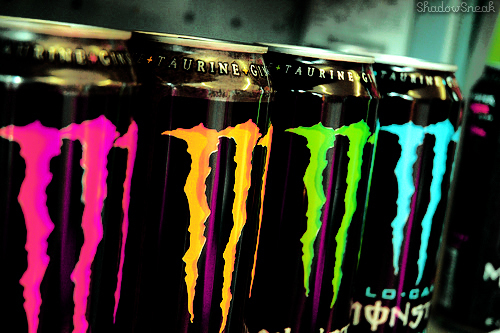 blue, energy drink, green, jenna mason, monster