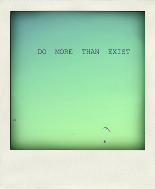 blue, exist, life, message, polaroid, sky, text, vintage